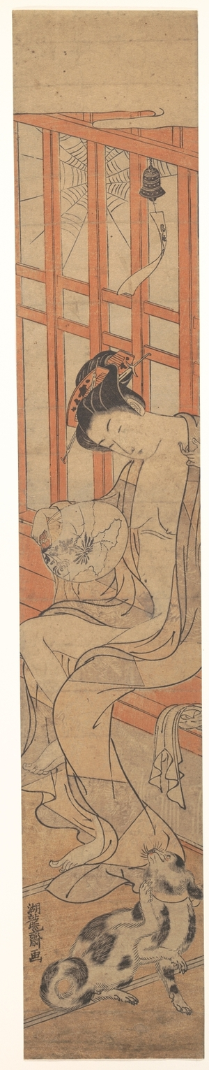 Isoda Koryusai: Woman Fanning Herself After a Bath - Metropolitan Museum of Art