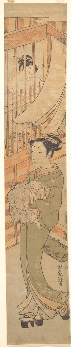 Isoda Koryusai: In the Yoshiwara District - Metropolitan Museum of Art