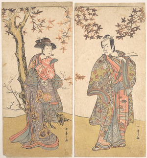 勝川春章: The Second Ichikawa Monnosuke as an Unarmed Man - メトロポリタン美術館