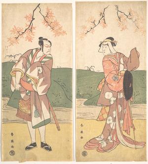 勝川春英: The Actor Morita Kanya Wearing One Sword - メトロポリタン美術館