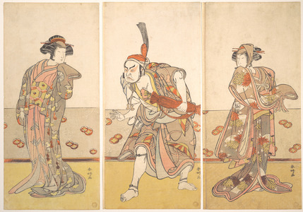 勝川春好: The Actor Nakamura Tomijuro as a Stately Woman - メトロポリタン美術館