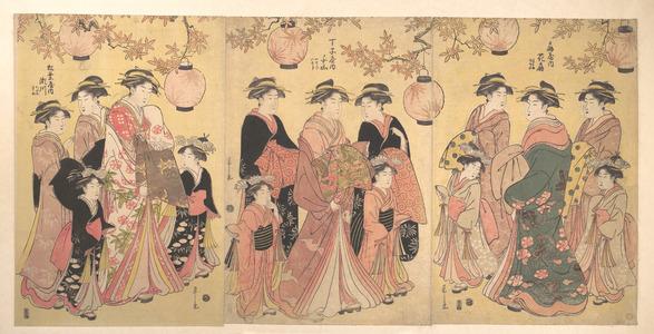 細田栄之: The Yoshiwara Parade in Autumn - メトロポリタン美術館