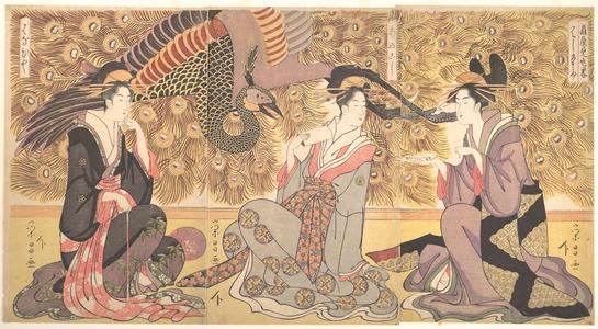 鳥高斎栄昌: Interior of the House called Ogiya - メトロポリタン美術館