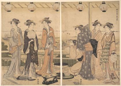 Utagawa Toyokuni I: The Four Seasons in Southern Edo: A Summer Scene (Minami shiki; Natsu [no] kei) - Metropolitan Museum of Art