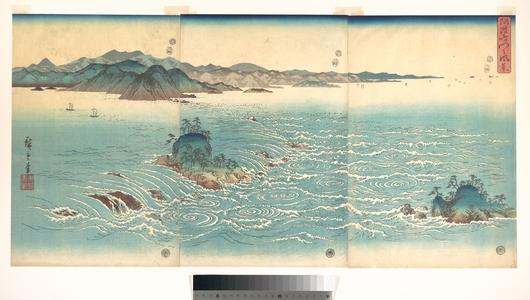 Utagawa Hiroshige: Rapids at Naruto - Metropolitan Museum of Art
