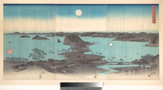 歌川広重: Panorama of the Eight Views of Kanasawa under a Full Moon - メトロポリタン美術館