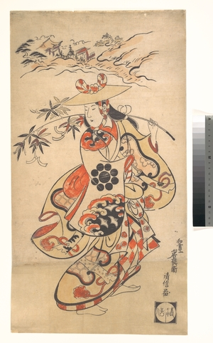Torii Kiyonobu I: Actor Sawamura Kodenji as a Woman at the Time of the Tanabata Festival - Metropolitan Museum of Art