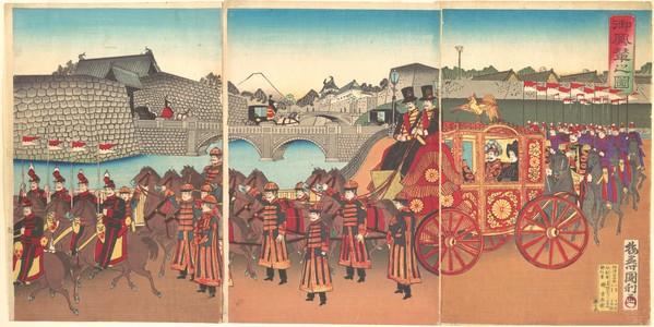 Utagawa Kunitoshi: View of the Imperial Carriage - Metropolitan Museum of Art