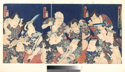 歌川国貞: Utagawa's Lifetime Masterpiece, from the Japanese version of the Shuihu Zhuan - メトロポリタン美術館