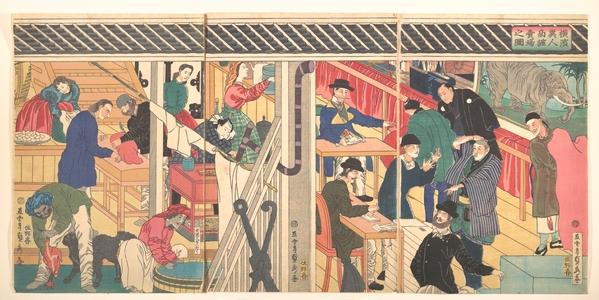 Utagawa Sadahide: Foreign Business Shop in Yokohama - Metropolitan Museum of Art