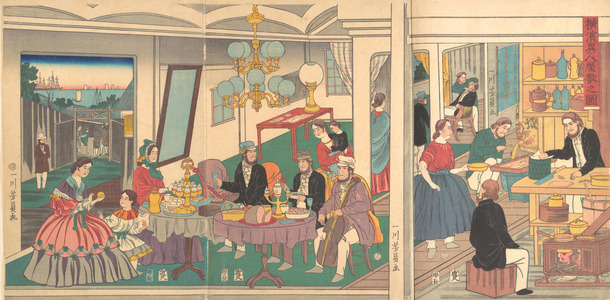 Utagawa Yoshikazu: A Foreign Residence in Yokohama - Metropolitan Museum of Art