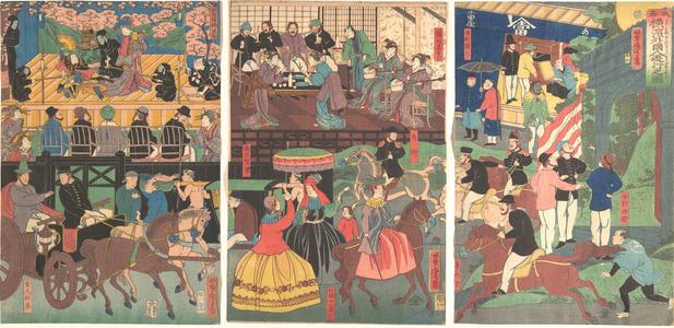 Utagawa Yoshitora: A View of the Amusements of the Foreigners in Yokohama, Bushu - Metropolitan Museum of Art