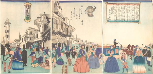 Utagawa Yoshitora: City of Washington in America - Metropolitan Museum of Art