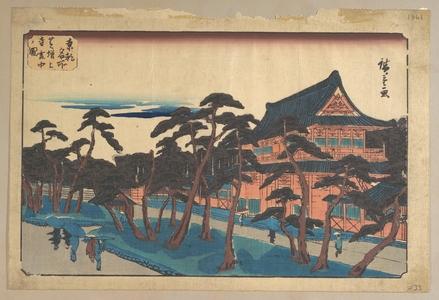 Utagawa Hiroshige: Zojoji Temple at Shiba in Snow - Metropolitan Museum of Art