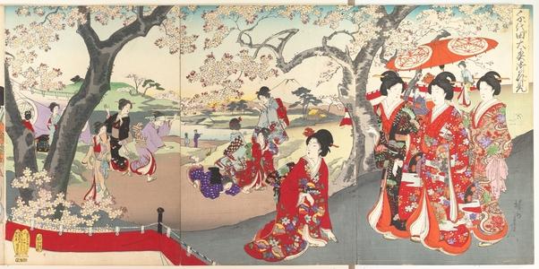 Toyohara Chikanobu: Chiyoda Castle (Album of Women) - Metropolitan Museum of Art
