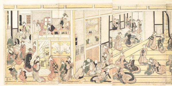 Katsushika Hokusai: New Year's Day at the Ôgiya seiro, Yoshiwara - Metropolitan Museum of Art