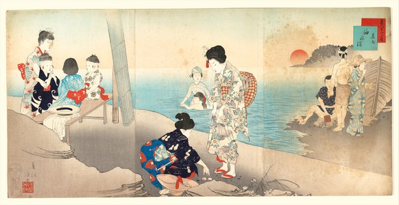 Gyosei Shuntei: Bathing in the Sea (Kaisuiyoku) - メトロポリタン美術館