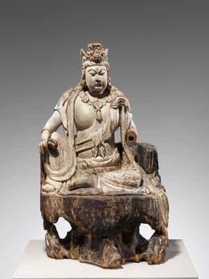 Unknown: Bodhisattva Avalokiteshvara in Water Moon Form (Shuiyue Guanyin) - Metropolitan Museum of Art