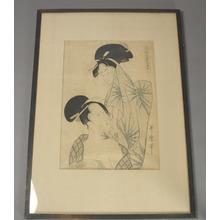 Kitagawa Utamaro: Two women after bath from the series Elegant Pines of Fivefold Needles (Furyu goyo no matsu) - Metropolitan Museum of Art