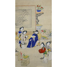 Unknown: Zhen Linru Meets His Wives - Metropolitan Museum of Art