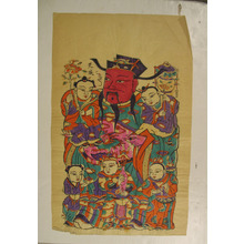 無款: One hundred thirty-five woodblock prints including New Year's pictures (nianhua), door gods, historical figures and Taoist deities - メトロポリタン美術館