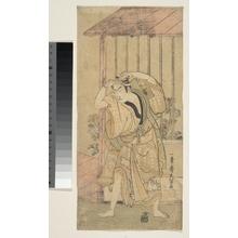 一筆斉文調: The First Ichikawa Komazo as a Man Standing beside a Building - メトロポリタン美術館