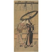 一筆斉文調: Segawa Kikunojo II as a Girl and Ichikawa Tomiyeimon? - メトロポリタン美術館