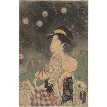 長喜: Woman and Child Catching Fireflies - メトロポリタン美術館
