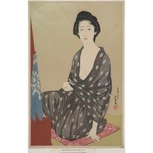 橋口五葉: Matron at Her Dressing Table - メトロポリタン美術館