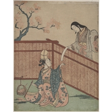 Suzuki Harunobu: Warming the Sake by Maple Leaf Fire - Metropolitan Museum of Art