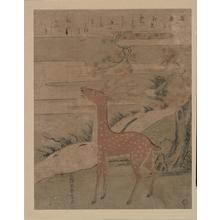 Suzuki Harunobu: The Cry of the Stag - Metropolitan Museum of Art