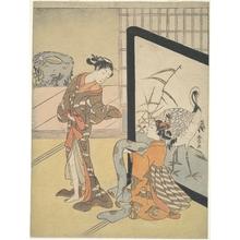 鈴木春信: A Girl Dressing - メトロポリタン美術館
