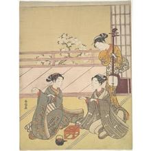 Suzuki Harunobu: Young Women Playing Kitsune-ken (Fox Game) - Metropolitan Museum of Art