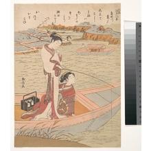 Suzuki Harunobu: Wild Geese Flying Down the Sumida River - Metropolitan Museum of Art