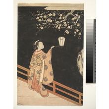 Suzuki Harunobu: Woman Admiring Plum Blossoms at Night - Metropolitan Museum of Art