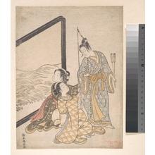 Suzuki Harunobu: Parody of Minamoto no Tametomo - Metropolitan Museum of Art