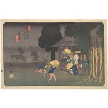 Utagawa Hiroshige: Suhara, from The Sixty-nine Stations of the Kisokaidô - Metropolitan Museum of Art