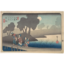 歌川広重: Moonlit Night at Miyanokoshi, from The Sixty-nine Stations of the Kisokaidô - メトロポリタン美術館