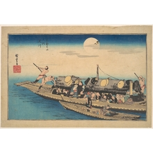 Utagawa Hiroshige: On the Yodo River - Metropolitan Museum of Art