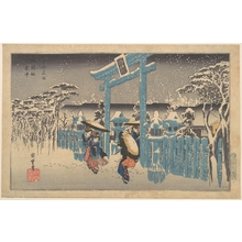 Utagawa Hiroshige: Gion Shrine in Snow - Metropolitan Museum of Art