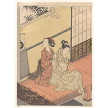 鈴木春信: The Evening Chime of the Clock - メトロポリタン美術館