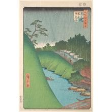 歌川広重: Shohei Bridge, Seido Temple and Kanda River - メトロポリタン美術館
