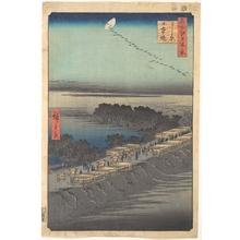 歌川広重: Nihon Embankment at Yoshiwara - メトロポリタン美術館