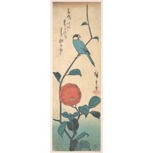 Utagawa Hiroshige: Camellia and Finch - Metropolitan Museum of Art