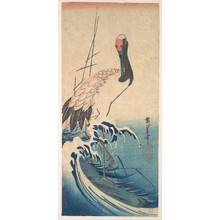 Utagawa Hiroshige: Crane and Surf - Metropolitan Museum of Art