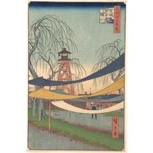 歌川広重: Hatsune no Baba; Bakurocho - メトロポリタン美術館