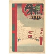 歌川広重: Kinryûsan Temple at Asakusa, from the series