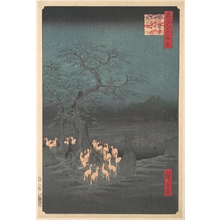 Utagawa Hiroshige: Shozokuenoki Tree at Oji: Fox–fires on New Years Eve - Metropolitan Museum of Art