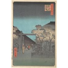 歌川広重: The Entrance to the Yoshiwara at Dawn - メトロポリタン美術館