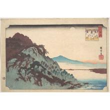 Utagawa Hiroshige: The Autumn Moon at Ishiyama on Lake Biwa. - Metropolitan Museum of Art